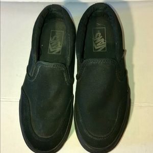 Black vans slip on sneakers
